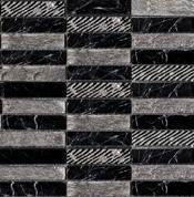 Antic Colonial Greek Negro Marquina мозаика 2,3x9,8 (29,6x29,6)